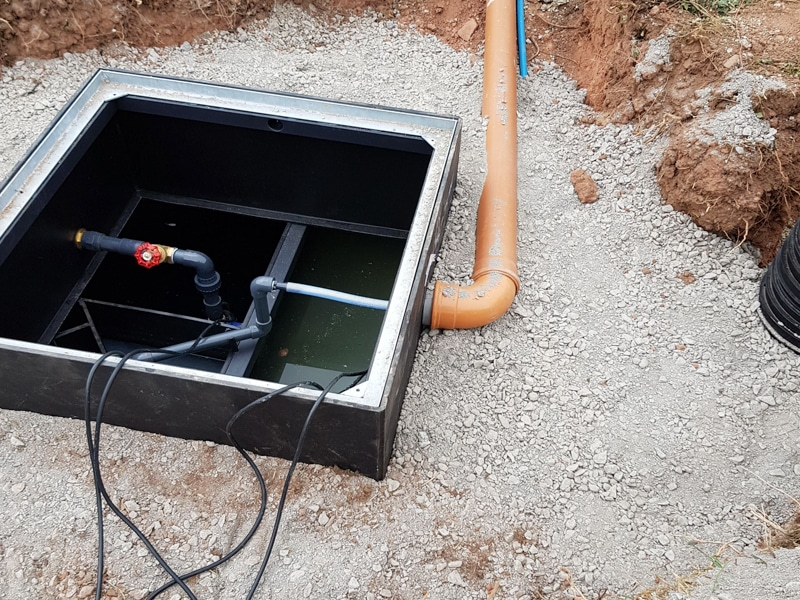 Tank installation by Wyre Drainage