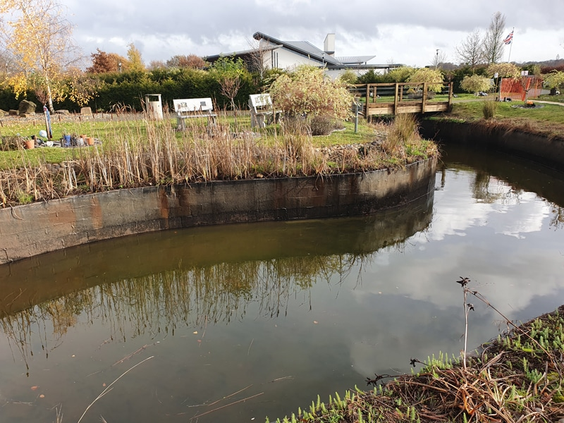 Watercourse maintenance at a commercial facility by Wyre Drainage