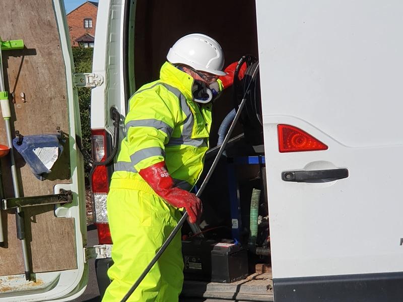 Wyre drainage plumber fixing blocked drain