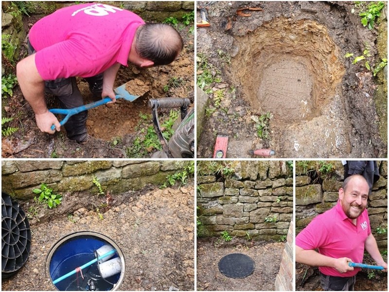 Drain installation by wyre drainage