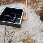 Inspection Hatch of an installed clenviro matrix sewage treatment plane