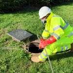 Drainage engineer water jetting drain