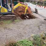 Groundworks carried out using mini digger by Wyre Drainage