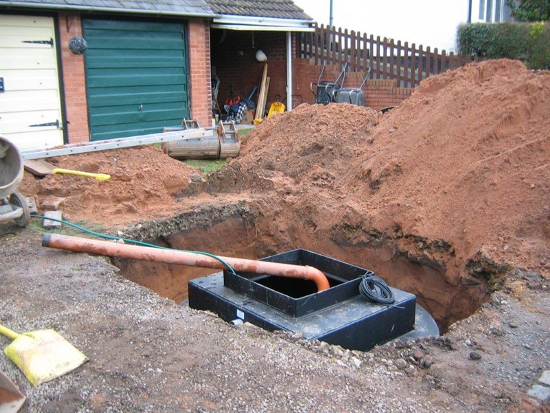 Wyre Drainage install a waste tank for sewage